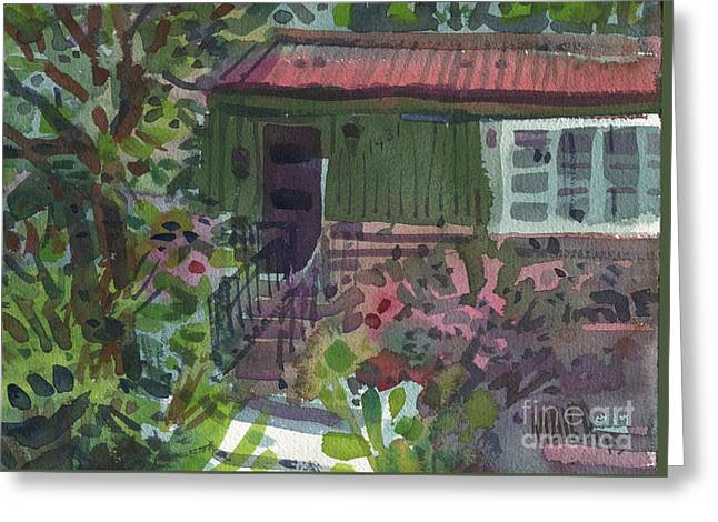 Greeting Card featuring the painting Entrance by Donald Maier