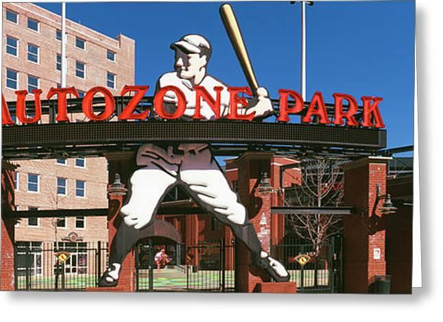 Entrance Of A Baseball Stadium Greeting Card by Panoramic Images