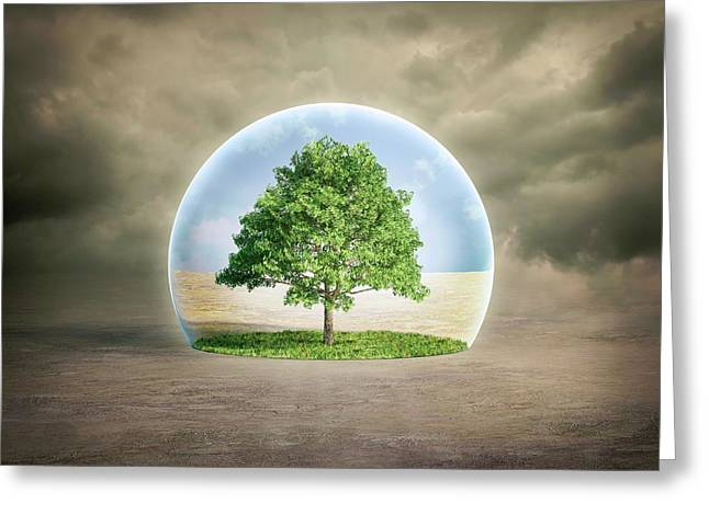 Environmental Protection Greeting Card by Andrzej Wojcicki/science Photo Library