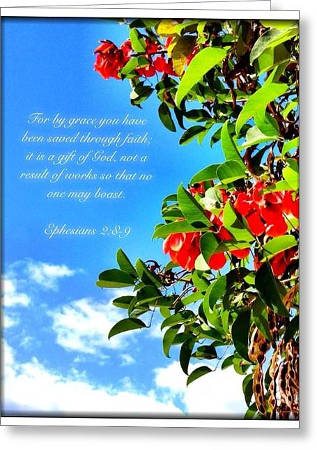 Ephesians 2 8 Greeting Card