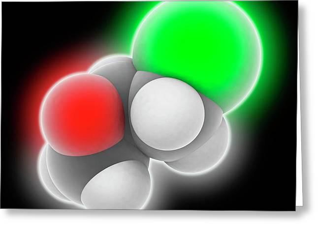 Epichlorhydrin Molecule Greeting Card by Laguna Design