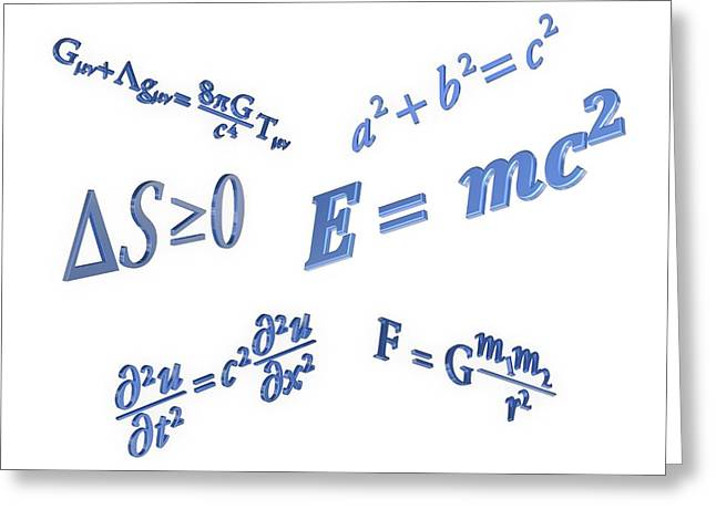 Equations Greeting Card by Alfred Pasieka