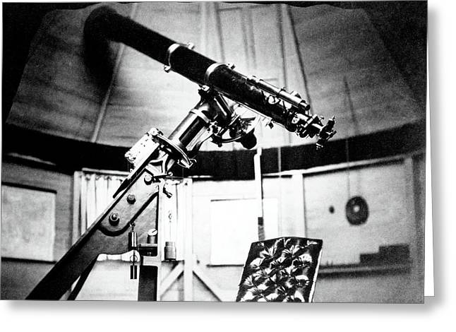 Equatorial Telescope Greeting Card by Royal Astronomical Society