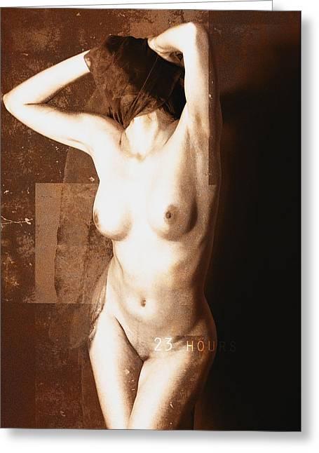 Erotic Art - 23 Hours Greeting Card by Falko Follert
