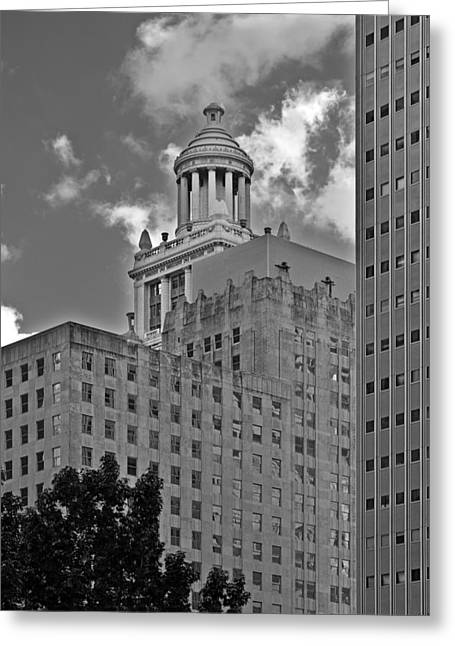 Esperson Buildings Houston Tx Greeting Card