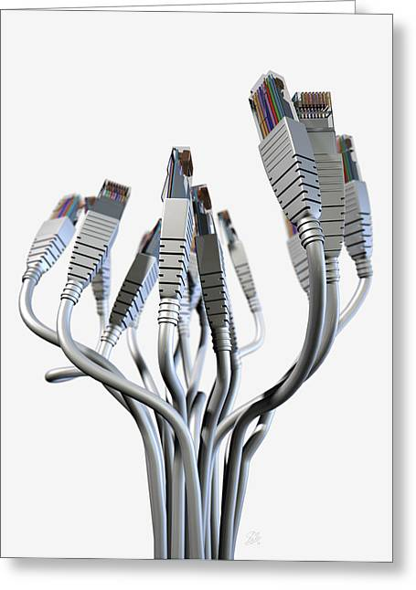 Ethernet Abstract Bouquet Greeting Card