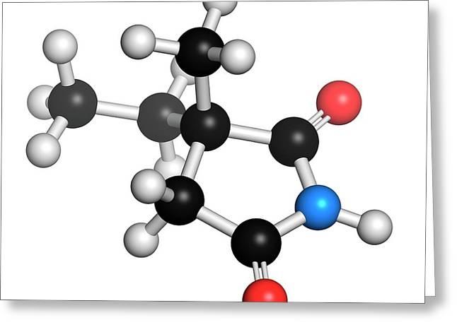 Ethosuximide Anticonvulsant Drug Molecule Greeting Card