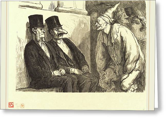 Etienne After Honoré Daumier French, Active 19th Century Greeting Card by Litz Collection