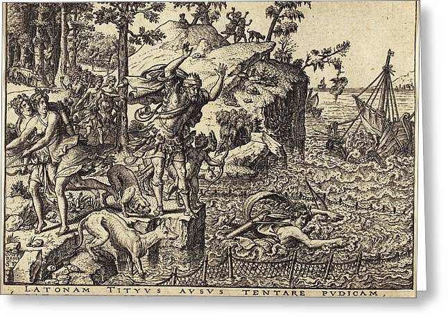 Etienne Delaune French, 1518-1519 - 1583 Greeting Card by Quint Lox