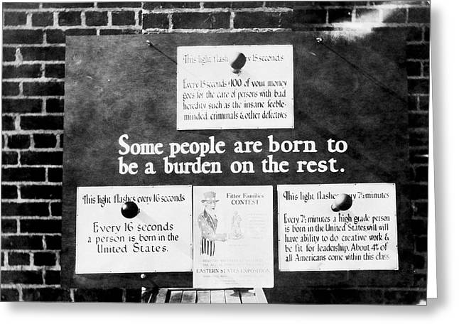 Eugenics Exhibit At Public Fair Greeting Card by American Philosophical Society