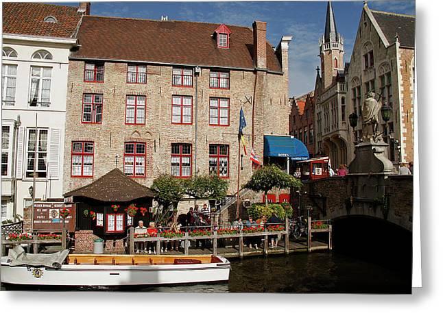 Europe, Belgium, Bruges Greeting Card by Kymri Wilt