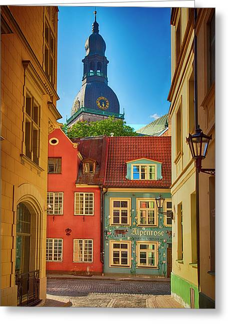 Europe, Estonia, Tallinn Greeting Card by Jaynes Gallery