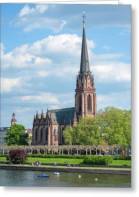 Europe, Germany, Hessen, Frankfurt Greeting Card