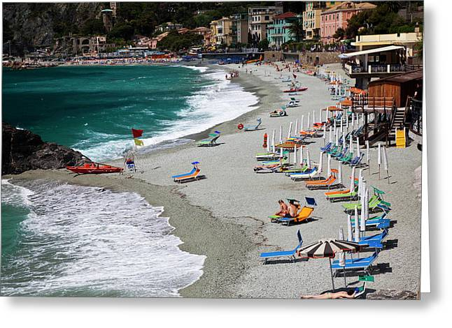 Europe, Italy, Cinque Terre, Monterosso Greeting Card by Terry Eggers