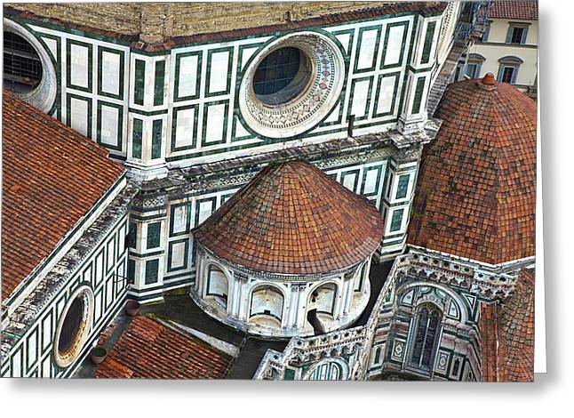 Europe Italy Florence Basilica Di Santa Greeting Card by Terry Eggers