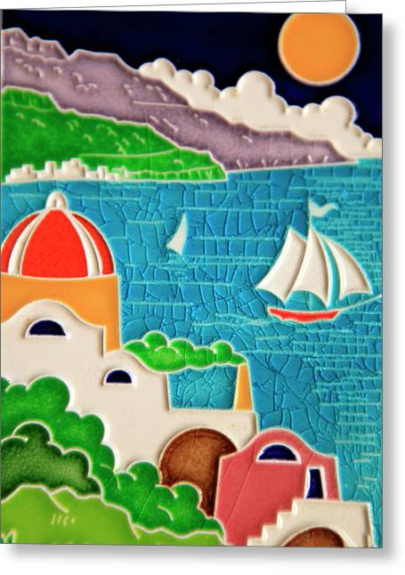 Europe, Italy Italian Hand-painted Greeting Card by Kymri Wilt