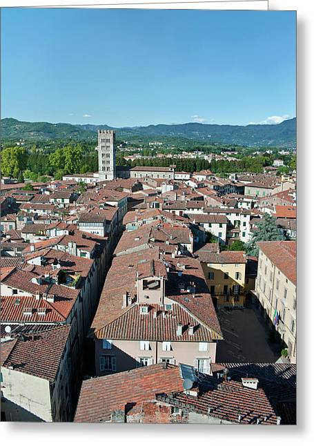 Europe, Italy, Tuscany, Lucca Town Greeting Card by Rob Tilley
