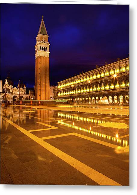 Europe Italy Venice San Marcos Square Greeting Card