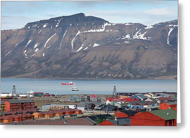 Europe, Norway, Svalbard, Longyearbyen Greeting Card by Jaynes Gallery