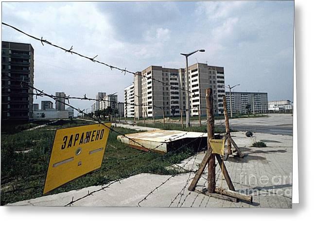 Evacuated Town Near Chernobyl, Ukraine Greeting Card by RIA Novosti