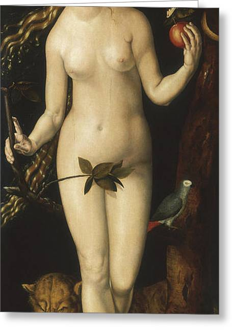 Eve Greeting Card by Albrecht Durer