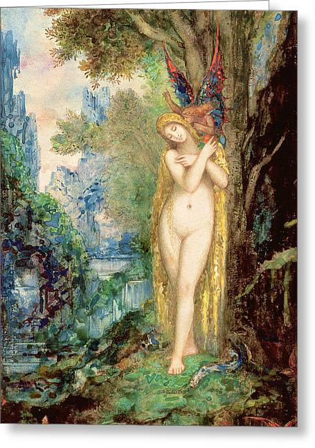 Eve Greeting Card by Gustave Moreau