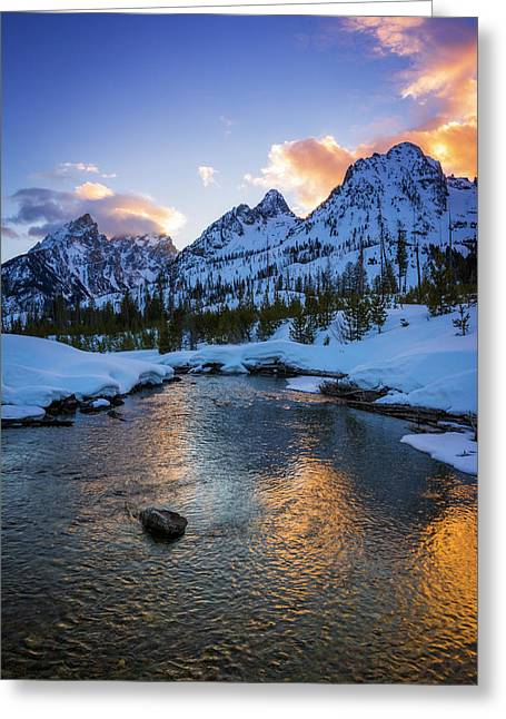 Evening Light Over The Tetons Greeting Card