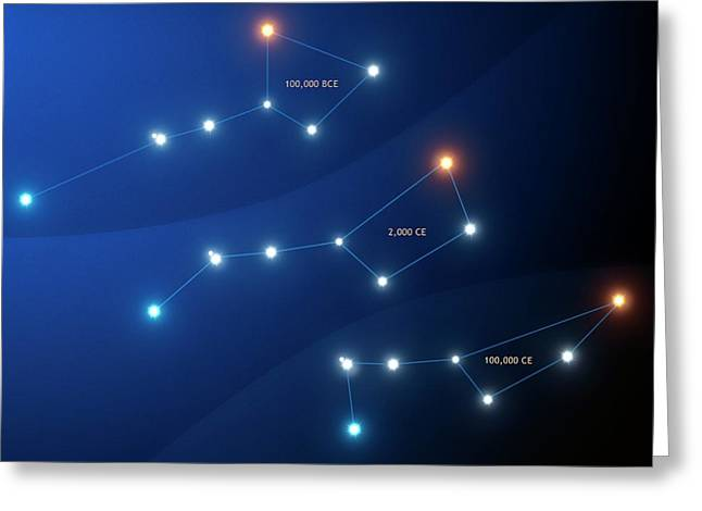 Evolution Of The Big Dipper Asterism Greeting Card by Mark Garlick