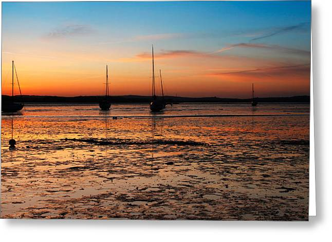Exe Estuary Sunset Greeting Card by Ollie Taylor