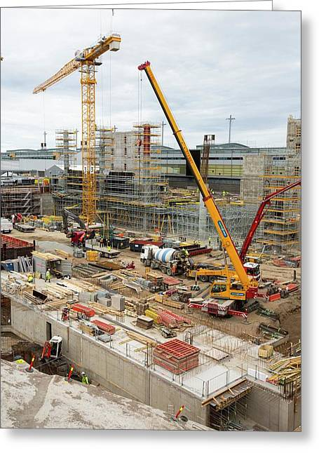 Expansion Work At Oslo Airport In Norway Greeting Card