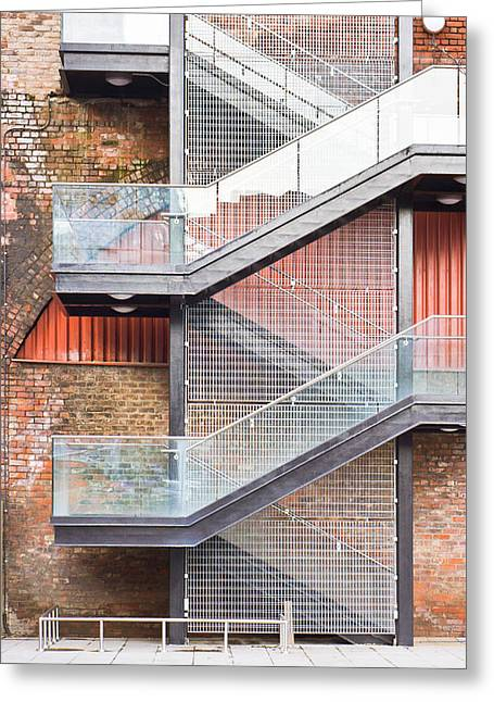 Exterior Stairs Greeting Card by Tom Gowanlock