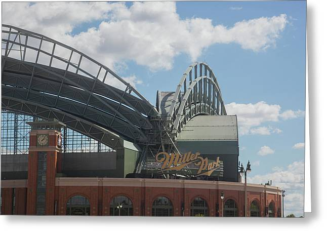 Exterior View Of The Miller Park Greeting Card