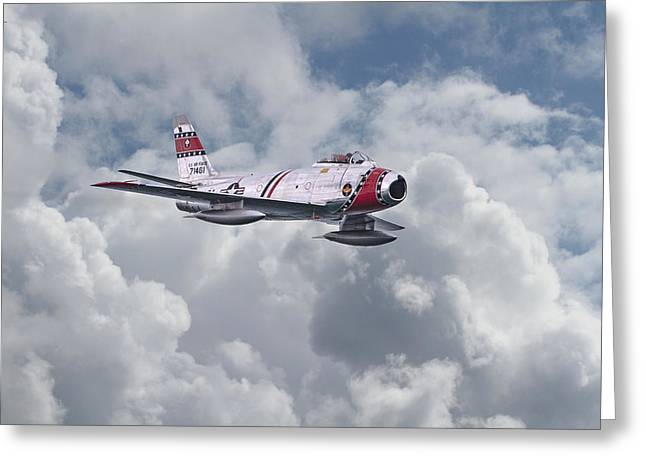 F86 Sabre Greeting Card by Pat Speirs