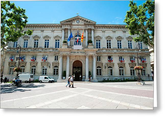 Facade Of A Building, Hotel De Ville Greeting Card