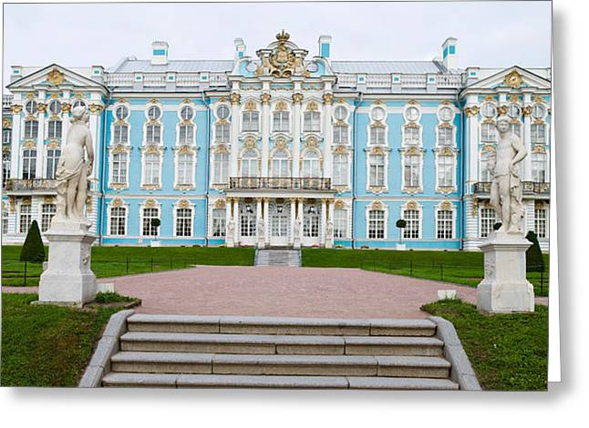 Facade Of A Palace, Tsarskoe Selo Greeting Card by Panoramic Images