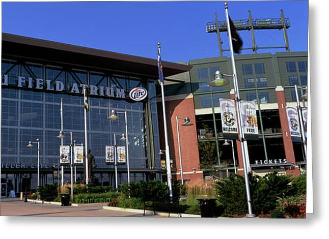Facade Of A Stadium, Lambeau Field Greeting Card