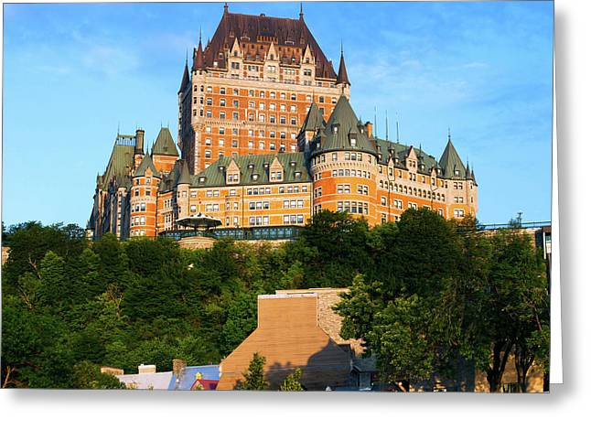 Facade Of Chateau Frontenac In Lower Greeting Card