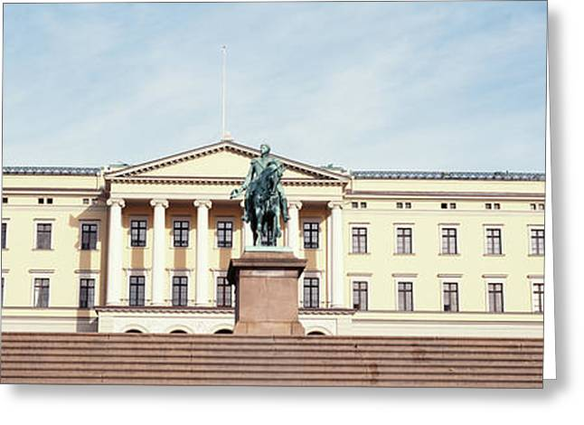 Facade Of The Royal Palace, Oslo, Norway Greeting Card by Panoramic Images