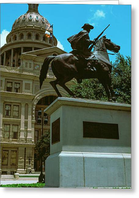 Facade Of The Texas State Capitol Greeting Card by Panoramic Images