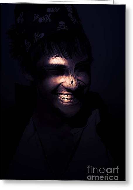 Face Of Horror Terror And Madness Greeting Card by Jorgo Photography - Wall Art Gallery