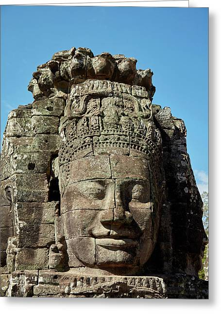 Face Thought To Depict Bodhisattva Greeting Card