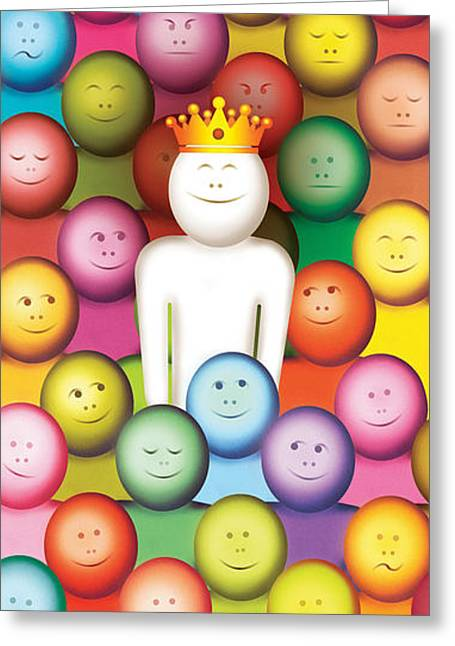 Fade-out And Stand-out Greeting Card