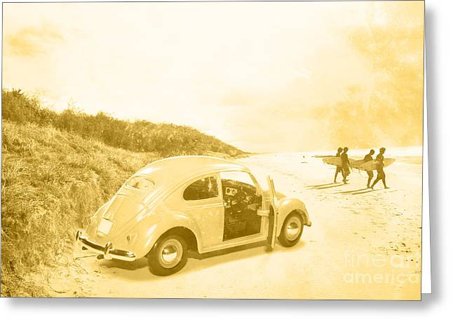Faded Film Surfing Memories Greeting Card by Jorgo Photography - Wall Art Gallery