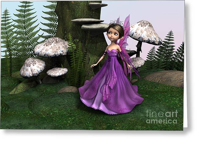 Fairy In Woodland Greeting Card by Design Windmill