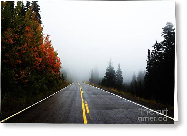 Greeting Card featuring the photograph Fall Drive by Kate Avery