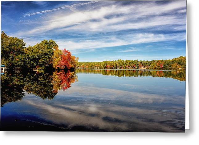 Fall Reflections Greeting Card by Tricia Marchlik