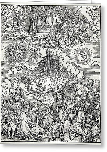 Falling Of The Ensisheim Meteorite Greeting Card by Detlev Van Ravenswaay