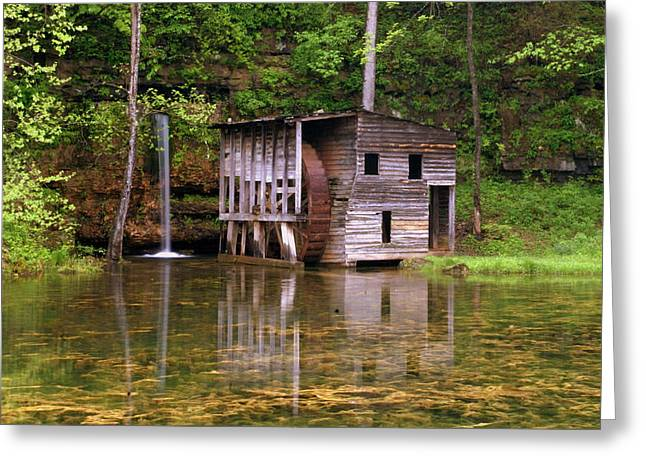 Falling Spring Mill  Greeting Card by Marty Koch