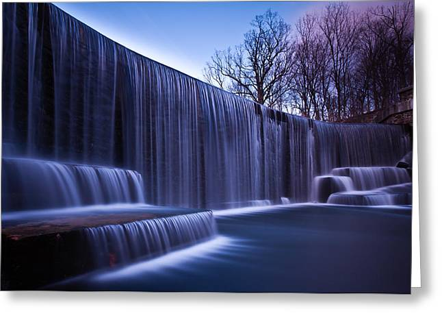 Greeting Card featuring the photograph Falling Water by Mihai Andritoiu