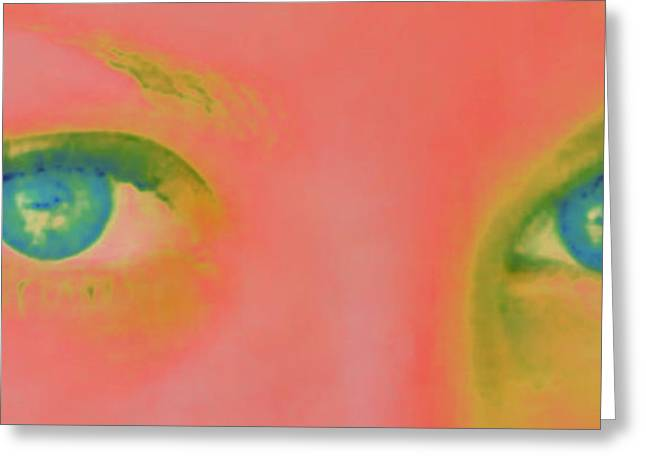 Greeting Card featuring the painting Far Away Eyes by Janice Westerberg